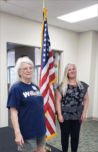 LCDC presents American flag to Lancaster Library